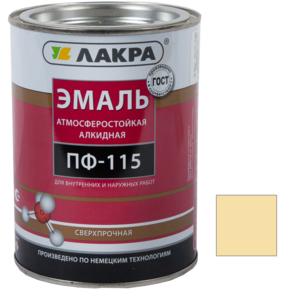 Эмаль алкидная ПФ-115 Кремовый 2 кг