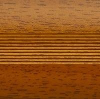 Стык алюминиевый широкий 60 мм 0,9 м Вишня