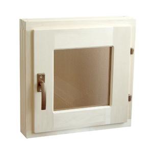 Окно из липы 300х300 мм с термостеклом