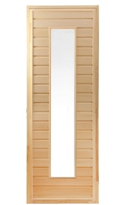 Дверь в парилку со стеклом из липы 700х1800 мм тип 2