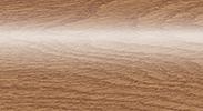Напольный пластиковый плинтус с кабель-каналом Комфорт глянцевый 206 Дуб коньячный