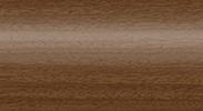 Напольный пластиковый плинтус с кабель-каналом Комфорт глянцевый 291 Орех