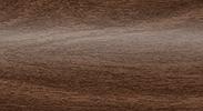 Напольный пластиковый плинтус с кабель-каналом Комфорт глянцевый 292 Орех миланский