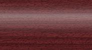 Напольный пластиковый плинтус с кабель-каналом Комфорт глянцевый 346 Махагон
