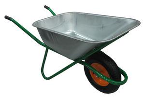 Тачка строительная одноколесная 110 л с надувным колесом