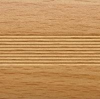 Стык алюминиевый широкий 60 мм 0,9 м Бук натуральный