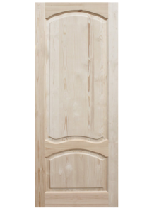 Дверь ДФГ-АА неокрашенная из массива сосны 600х2000 мм с коробкой