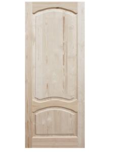 Дверь ДФГ-АА неокрашенная из массива сосны 800х2000 мм с коробкой