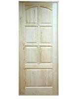 Дверь ДФГ-А6Ф из массива сосны неокрашенная 900х2000 мм с коробкой