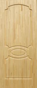 Дверь ДМ-АА из массива сосны неокрашенная клеенная 800х2000 сорт С