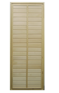 Дверь в парилку глухая из липы 700х1800 мм тип 1