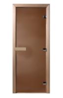 Дверь в парилку стеклянная без порожка 700х1900 мм