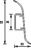 Напольный пластиковый плинтус с кабель-каналом Комфорт глянцевый 217 Дуб темный