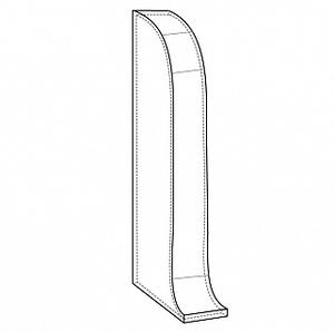 Торцевая заглушка для плинтуса Комфорт левая 001 Белый