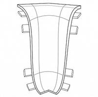 Угол внутренний для плинтуса Комфорт глянцевый 301 Венге