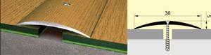 Стык алюминиевый 30 мм 0,9 м Вишня деревенская