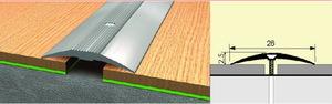 Стык алюминиевый 28 мм 1,8 м Вишня деревенская